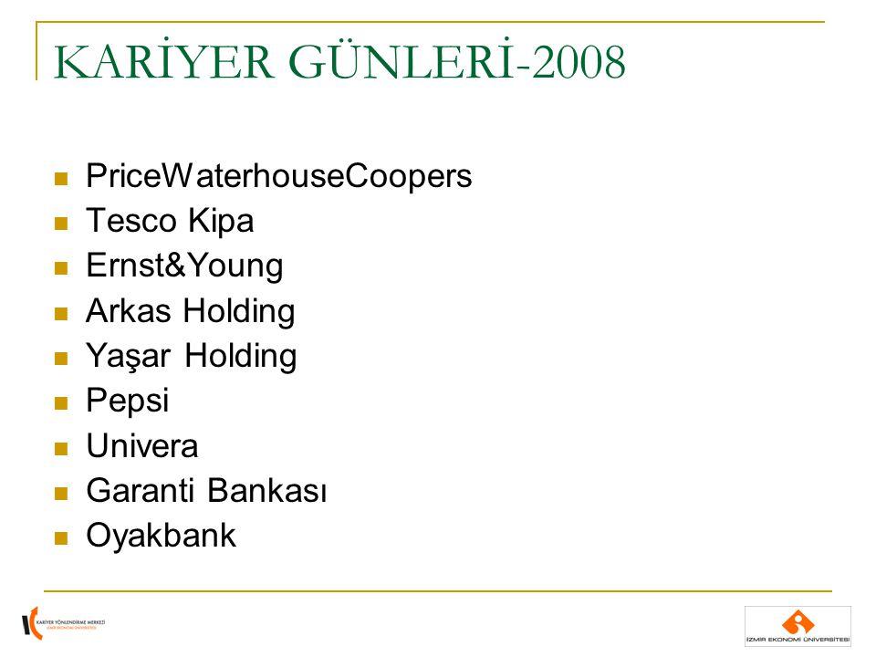 KARİYER GÜNLERİ-2008 PriceWaterhouseCoopers Tesco Kipa Ernst&Young