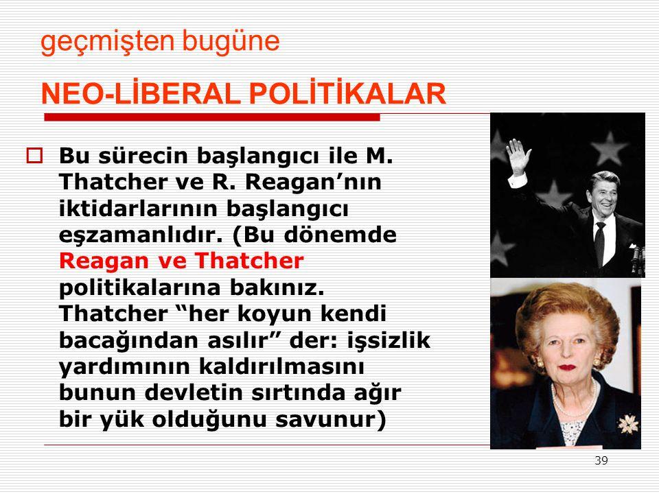 NEO-LİBERAL POLİTİKALAR