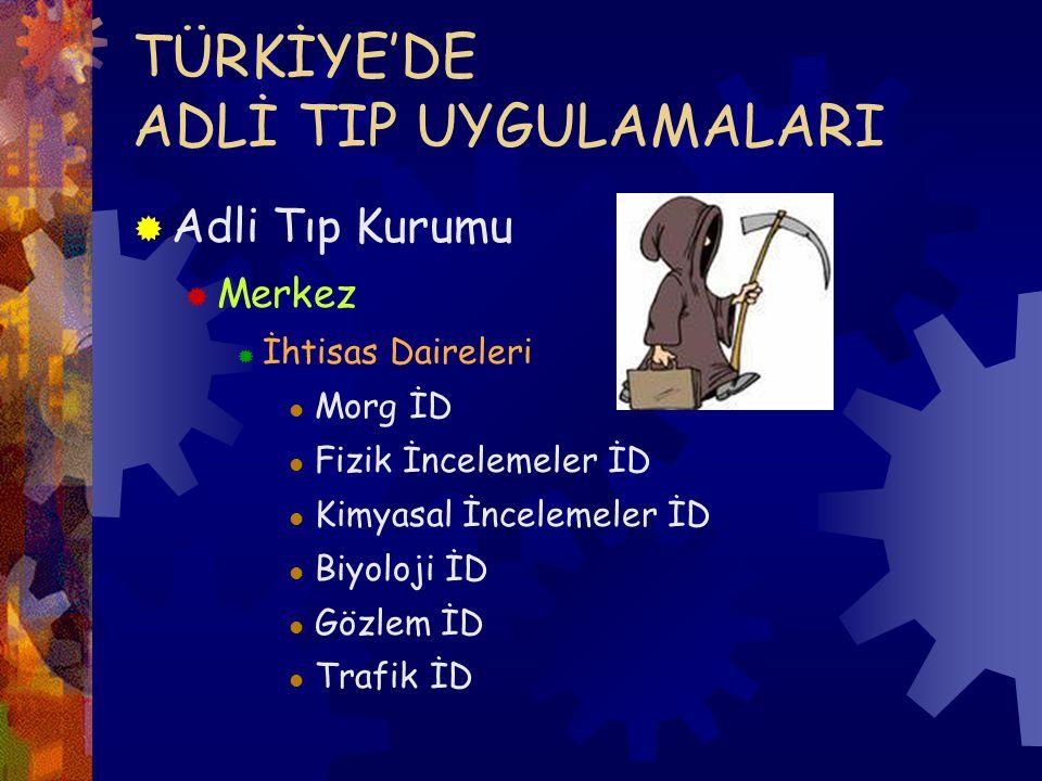 TÜRKİYE'DE ADLİ TIP UYGULAMALARI