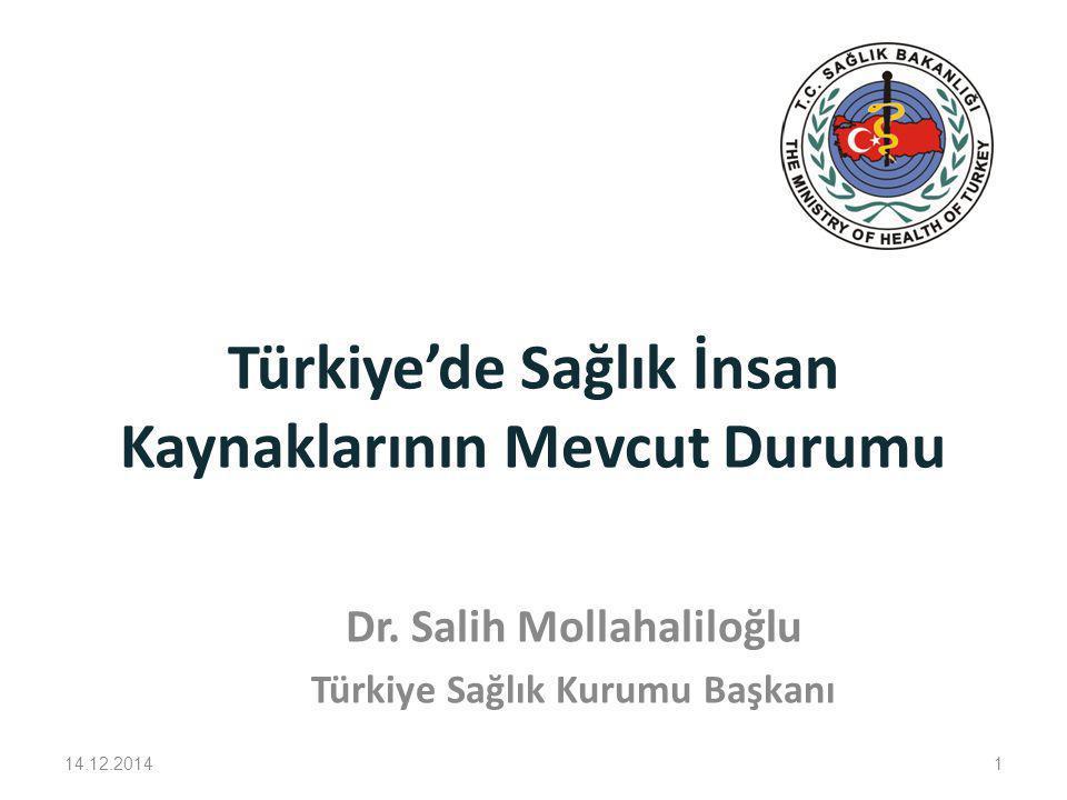 Türkiye'de Sağlık İnsan Kaynaklarının Mevcut Durumu