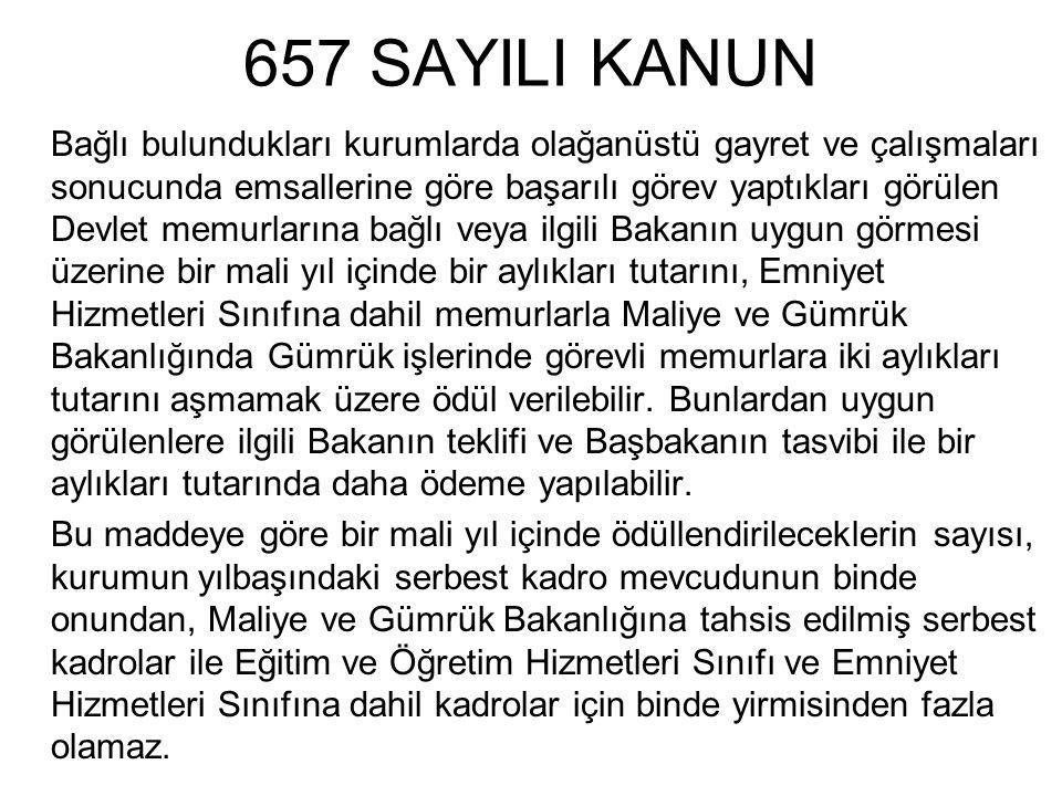 657 SAYILI KANUN