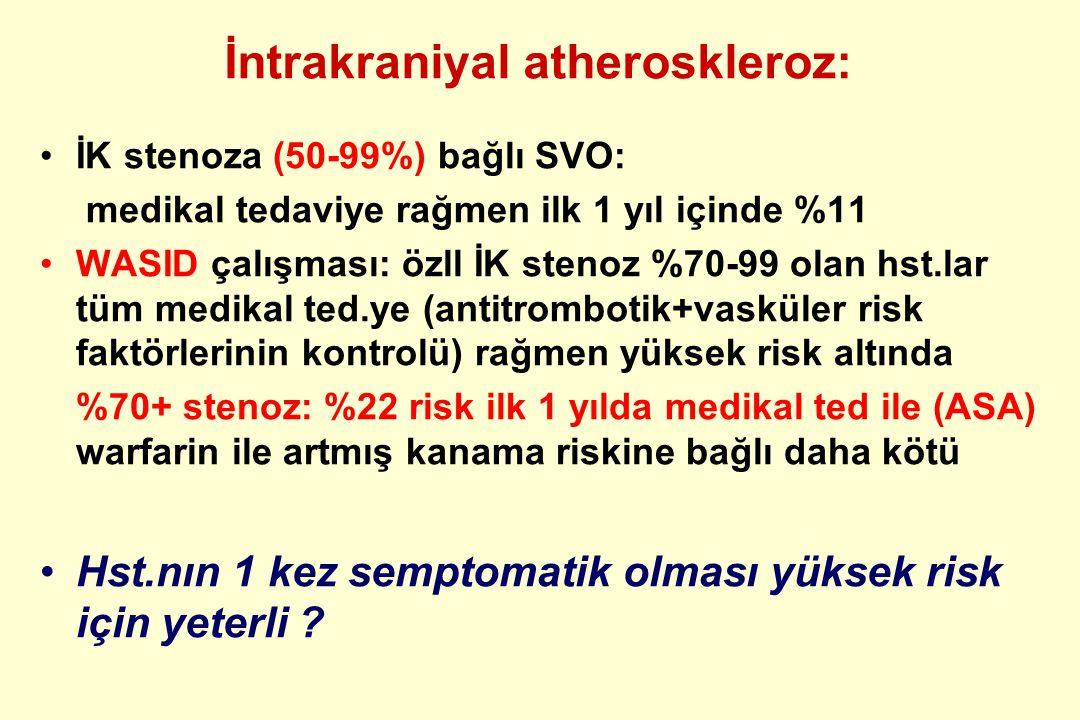 İntrakraniyal atheroskleroz: