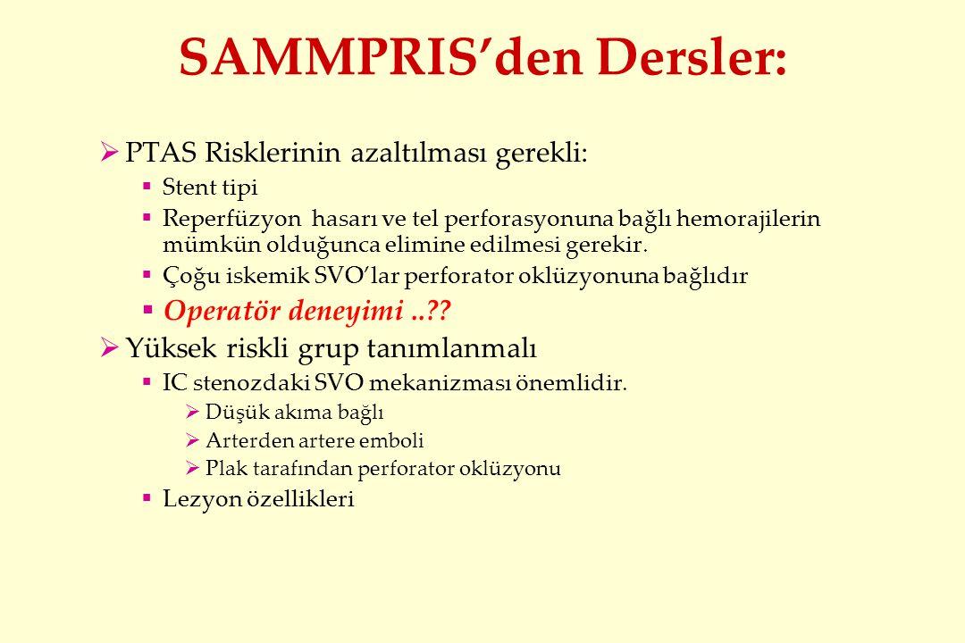SAMMPRIS'den Dersler: