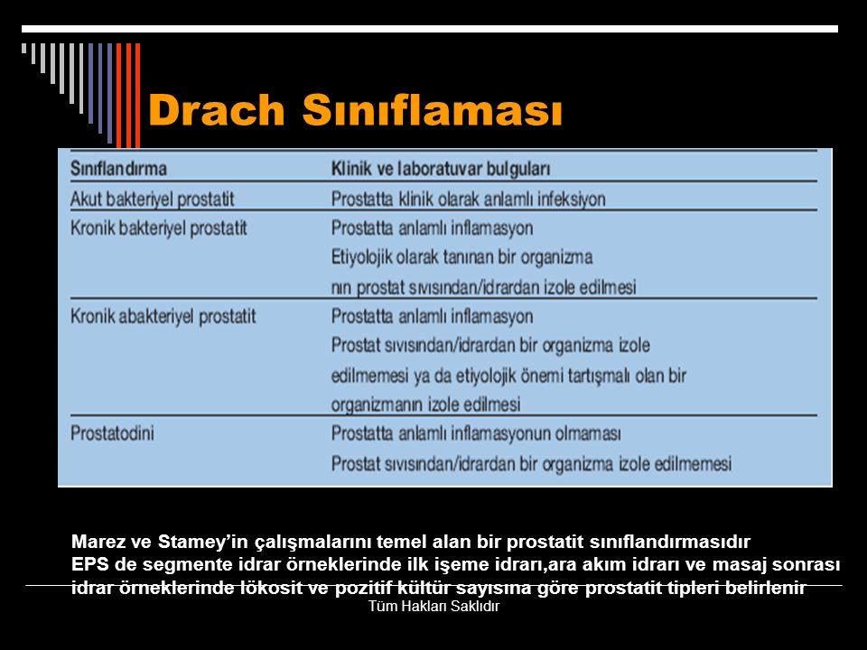 Drach Sınıflaması Marez ve Stamey'in çalışmalarını temel alan bir prostatit sınıflandırmasıdır.