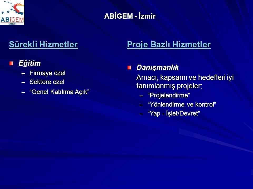Sürekli Hizmetler Proje Bazlı Hizmetler ABİGEM - İzmir Eğitim