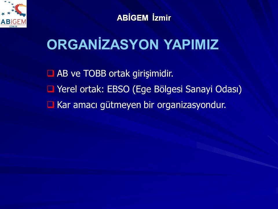 ORGANİZASYON YAPIMIZ AB ve TOBB ortak girişimidir.