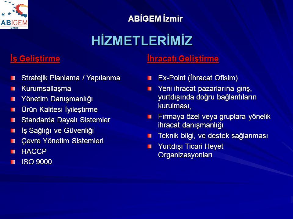 HİZMETLERİMİZ ABİGEM İzmir İş Geliştirme İhracatı Geliştirme