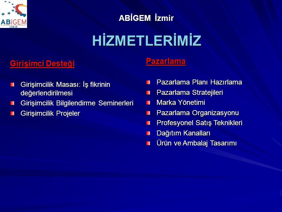 HİZMETLERİMİZ ABİGEM İzmir Pazarlama Girişimci Desteği
