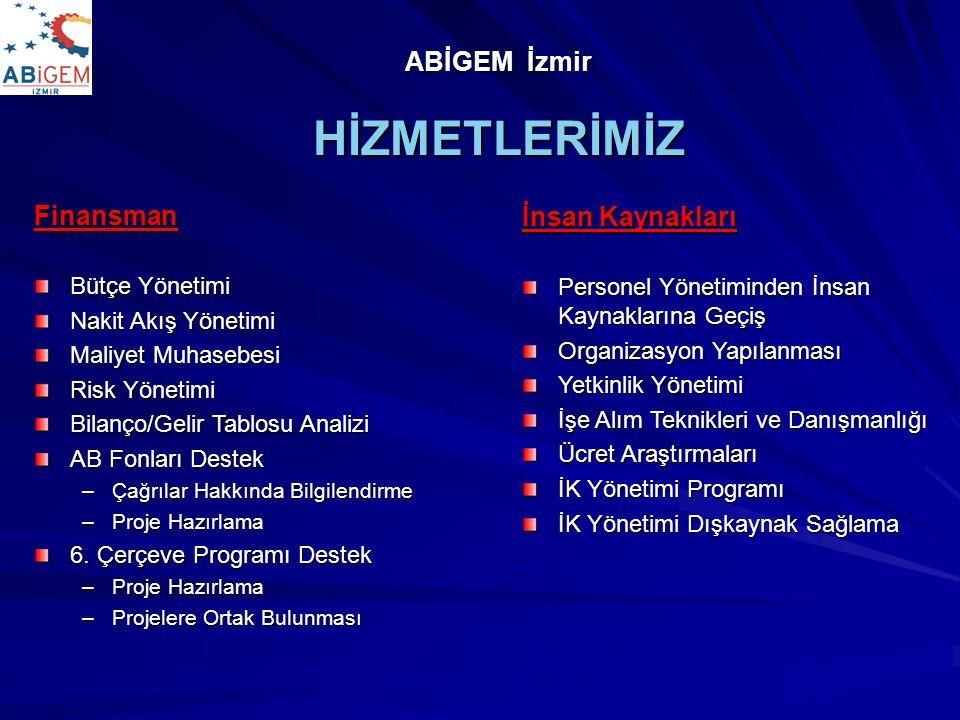 HİZMETLERİMİZ ABİGEM İzmir Finansman İnsan Kaynakları Bütçe Yönetimi