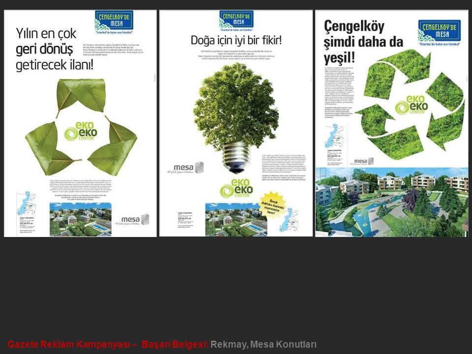 Gazete Reklam Kampanyası – Başarı Belgesi: Rekmay, Mesa Konutları
