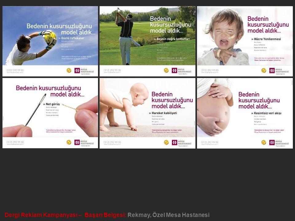 Dergi Reklam Kampanyası – Başarı Belgesi: Rekmay, Özel Mesa Hastanesi