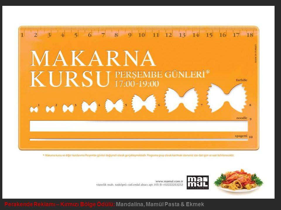 Perakende Reklamı – Kırmızı Bölge Ödülü: Mandalina, Mamül Pasta & Ekmek