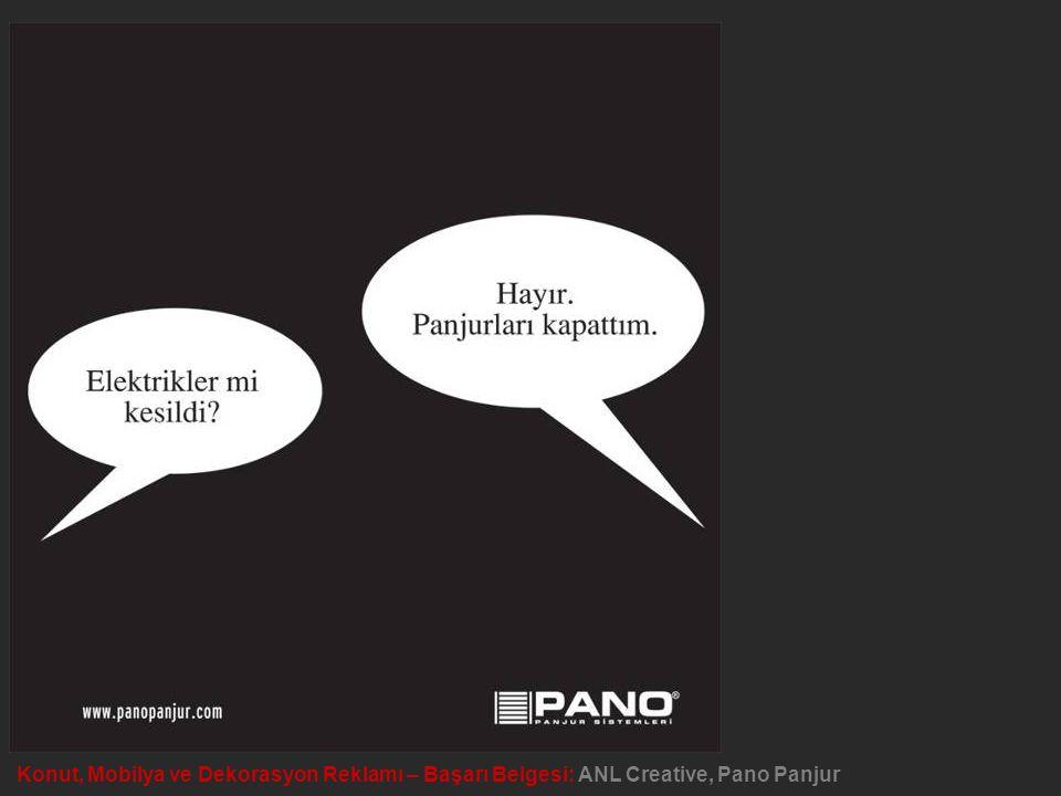 Konut, Mobilya ve Dekorasyon Reklamı – Başarı Belgesi: ANL Creative, Pano Panjur