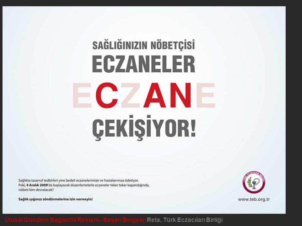 Ulusal Gündem Bağlantılı Reklam– Başarı Belgesi: Reta, Türk Eczacıları Birliği