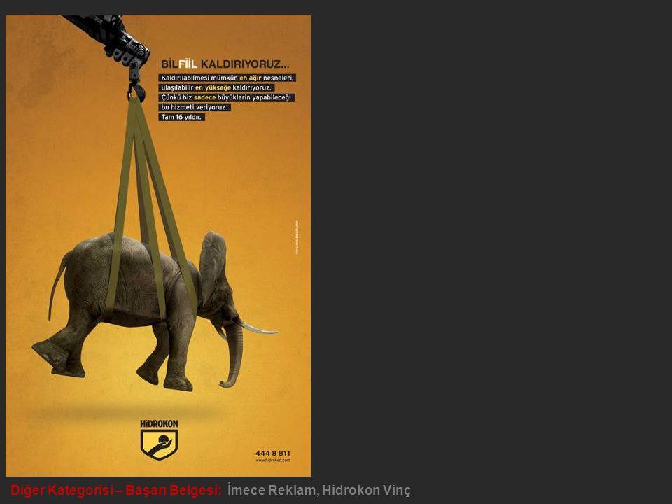 Diğer Kategorisi – Başarı Belgesi: İmece Reklam, Hidrokon Vinç