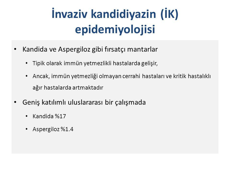 İnvaziv kandidiyazin (İK) epidemiyolojisi