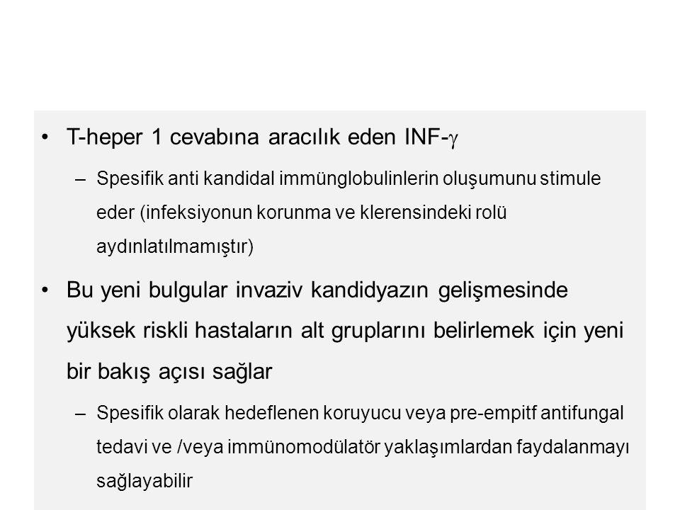 T-heper 1 cevabına aracılık eden INF-