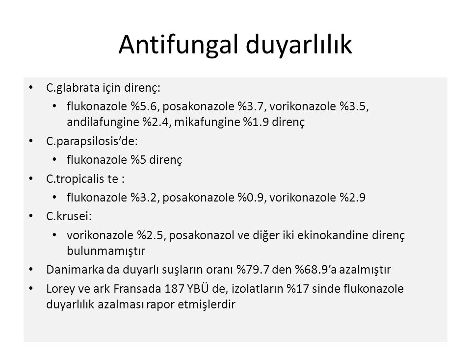 Antifungal duyarlılık