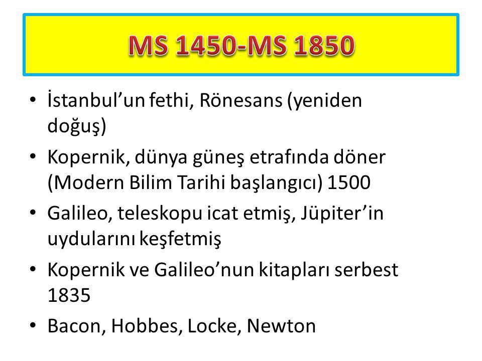 MS 1450-MS 1850 İstanbul'un fethi, Rönesans (yeniden doğuş)