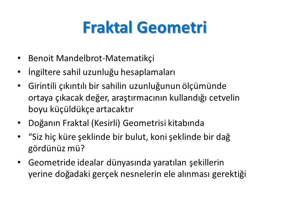 Fraktal Geometri Benoit Mandelbrot-Matematikçi