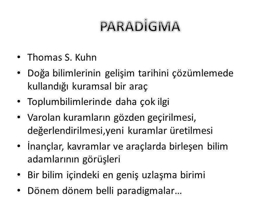 PARADİGMA Thomas S. Kuhn