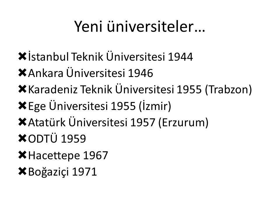 Yeni üniversiteler… İstanbul Teknik Üniversitesi 1944
