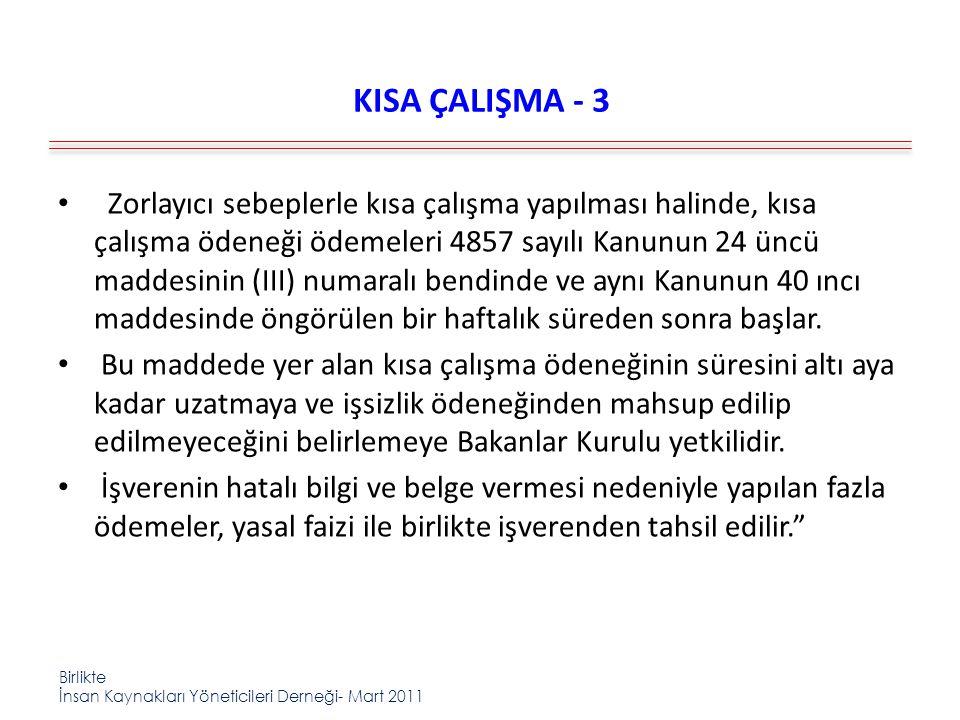 KISA ÇALIŞMA - 3