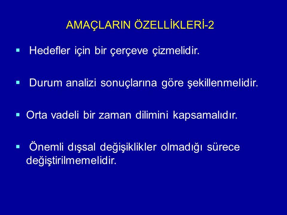 AMAÇLARIN ÖZELLİKLERİ-2