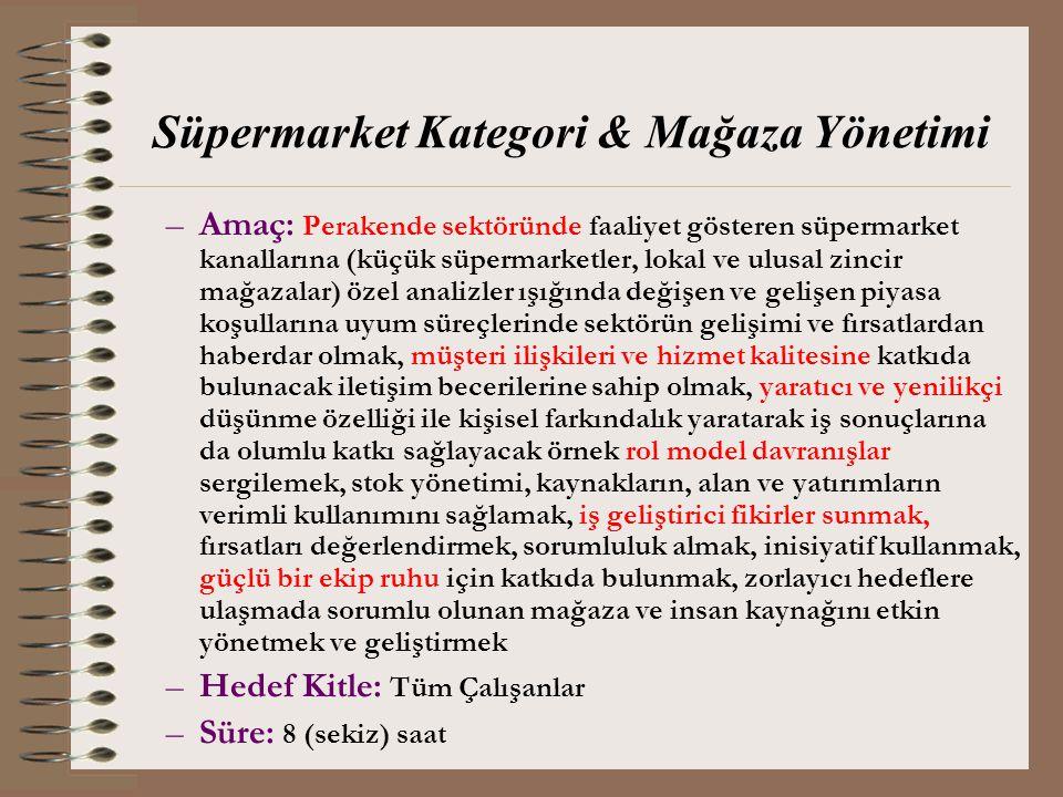 Süpermarket Kategori & Mağaza Yönetimi