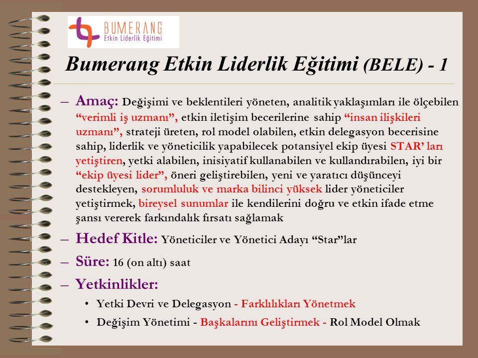 Bumerang Etkin Liderlik Eğitimi (BELE) - 1