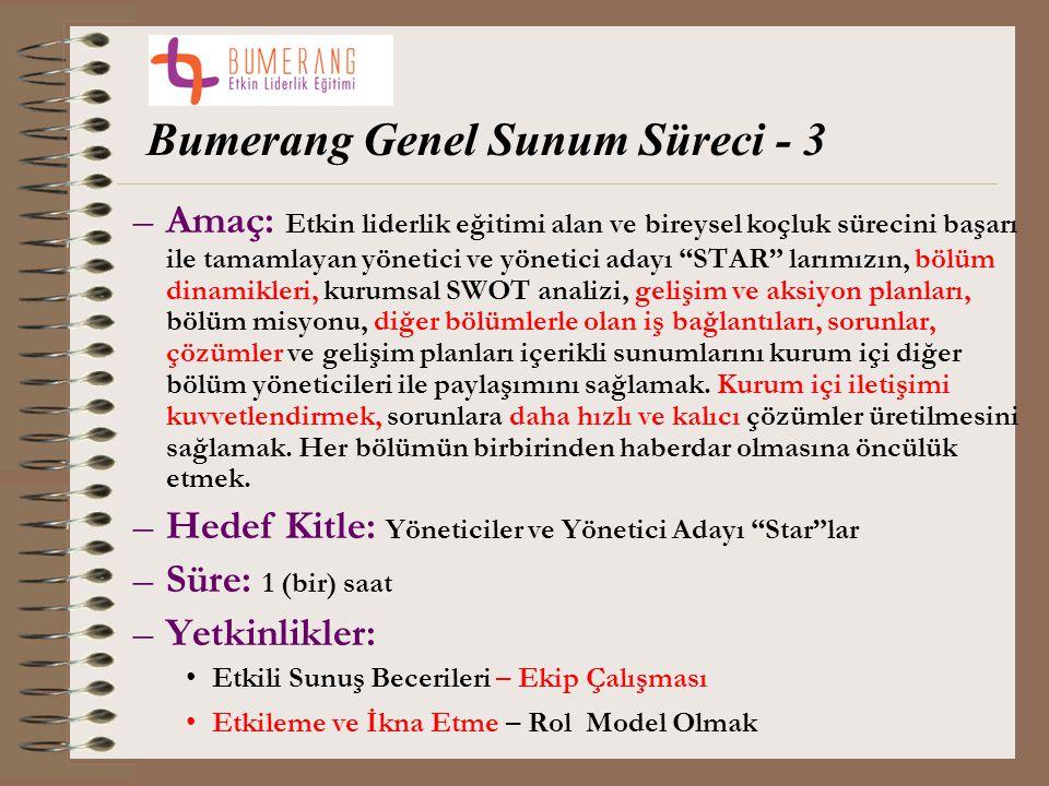 Bumerang Genel Sunum Süreci - 3