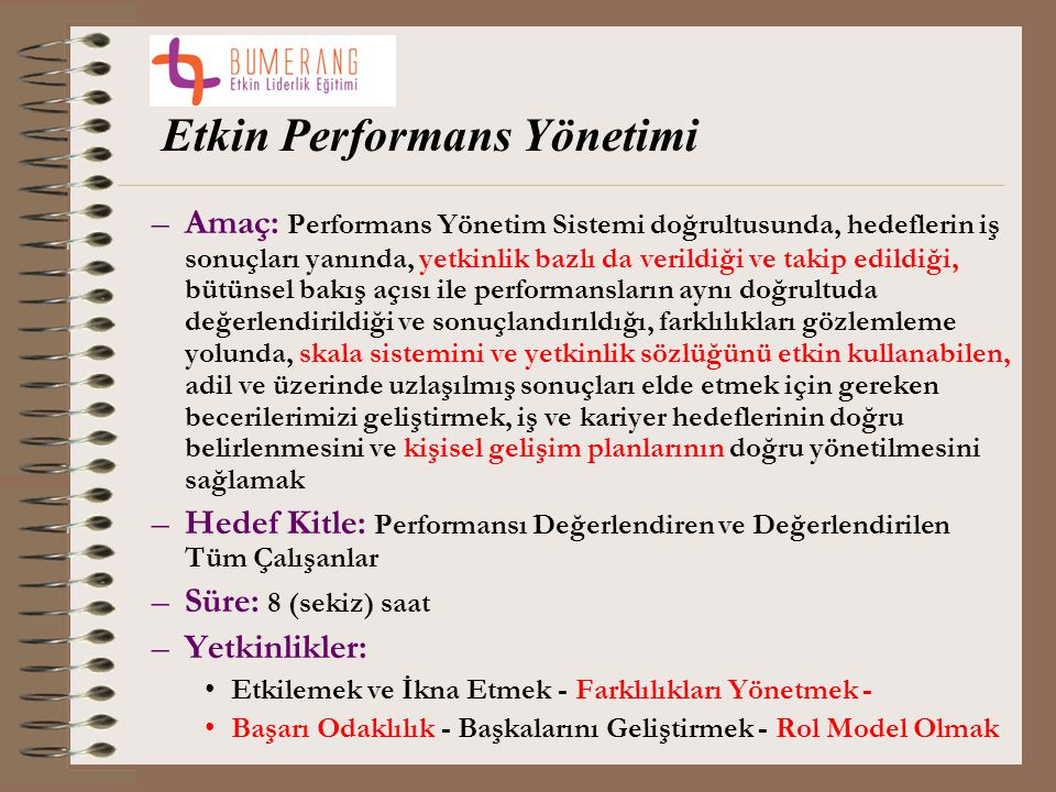 Etkin Performans Yönetimi