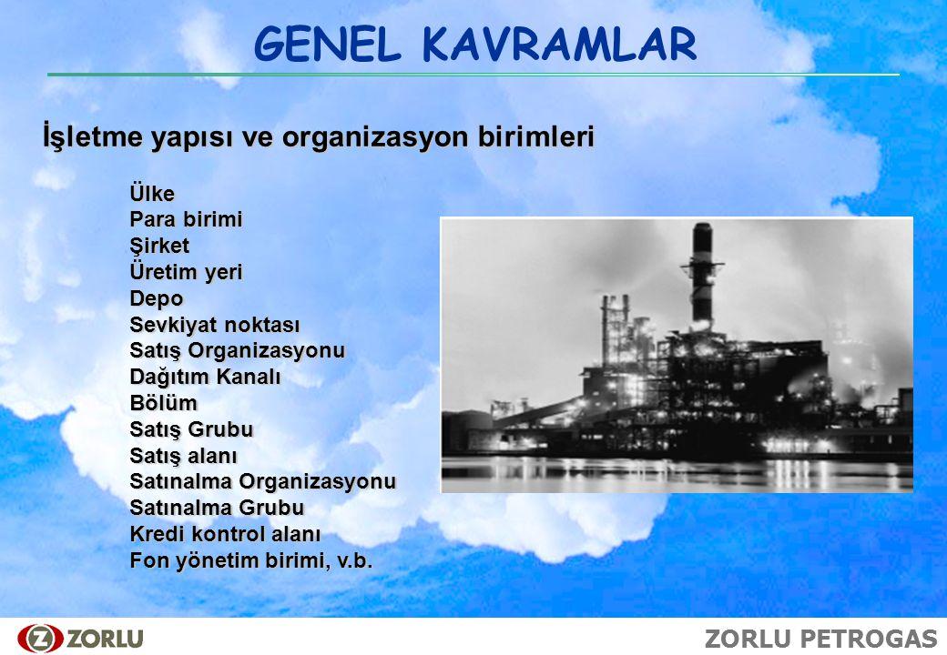 GENEL KAVRAMLAR İşletme yapısı ve organizasyon birimleri Ülke