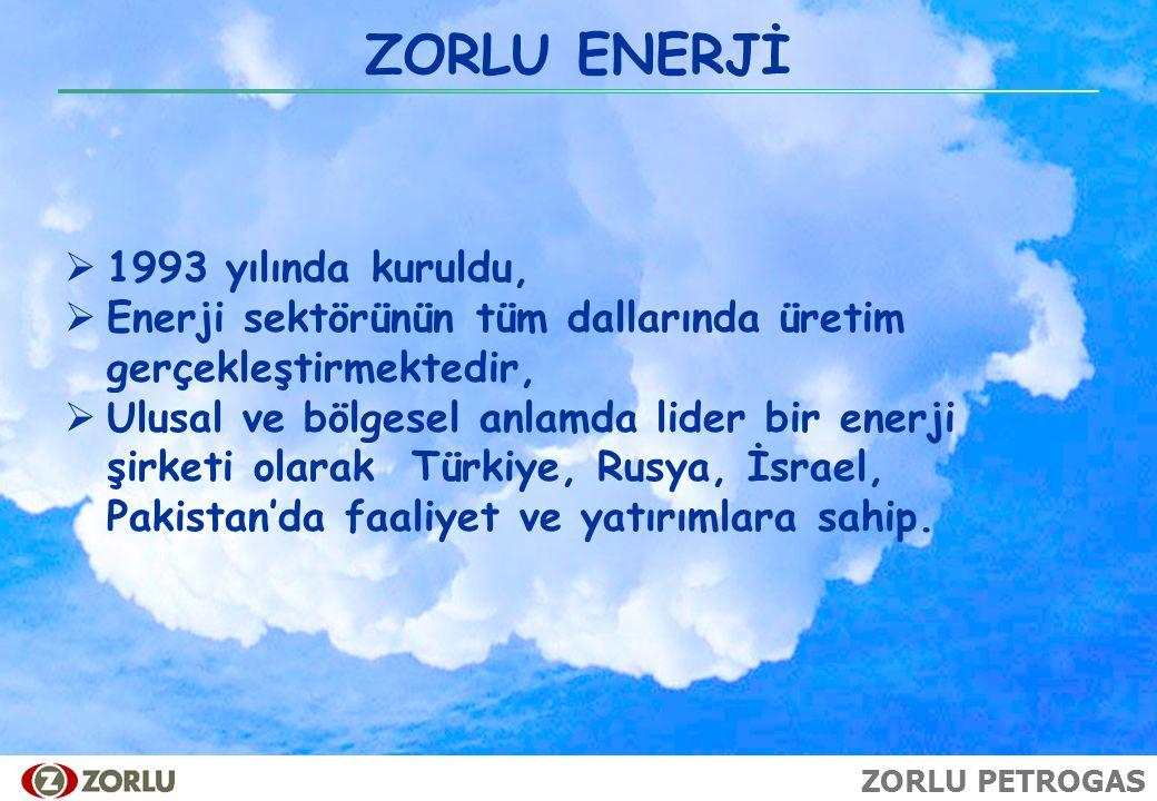 ZORLU ENERJİ 1993 yılında kuruldu,
