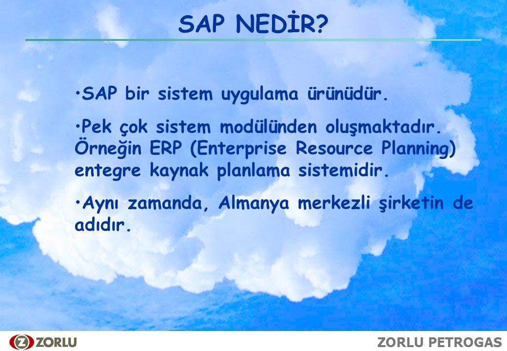 SAP NEDİR SAP bir sistem uygulama ürünüdür.