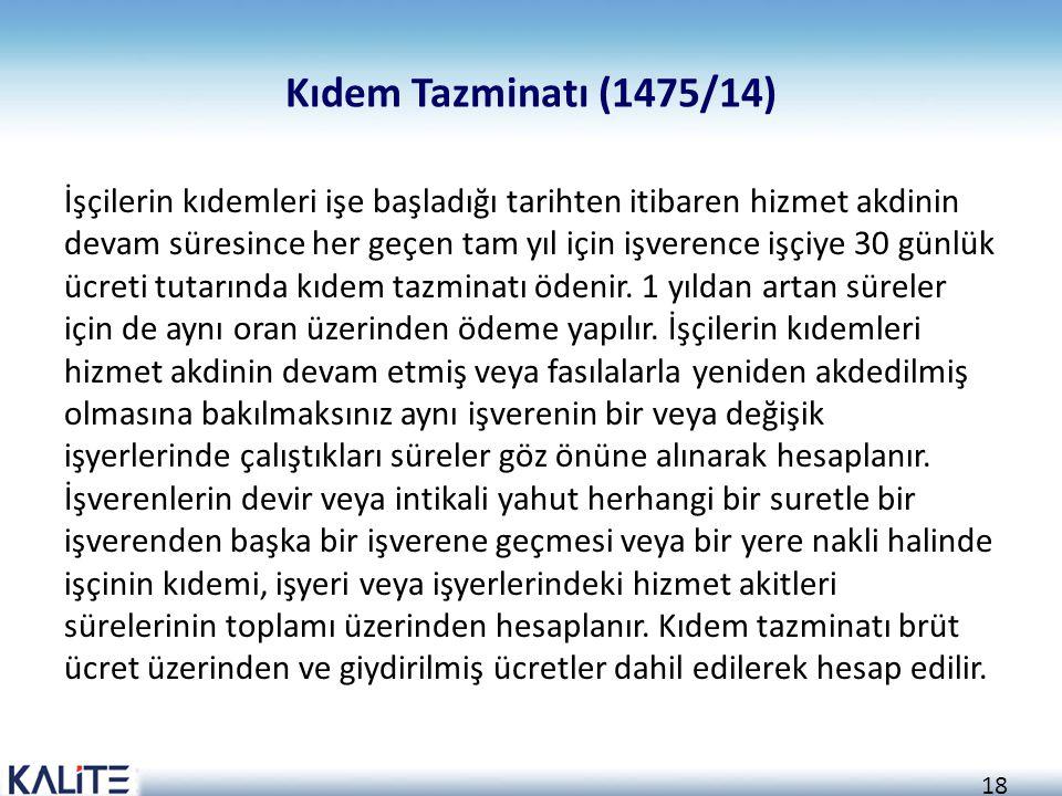 Kıdem Tazminatı (1475/14)