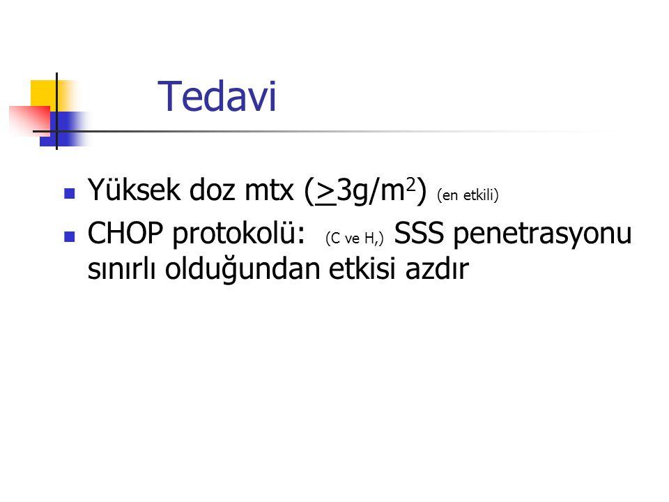 Tedavi Yüksek doz mtx (>3g/m2) (en etkili)