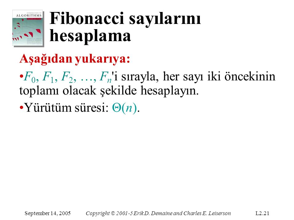 Fibonacci sayılarını hesaplama