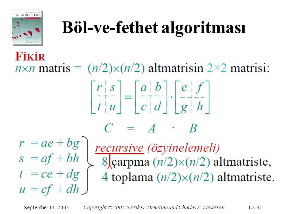 Böl-ve-fethet algoritması