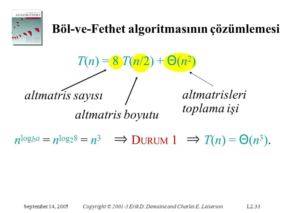 nlogba = nlog28 = n3 Böl-ve-Fethet algoritmasının çözümlemesi
