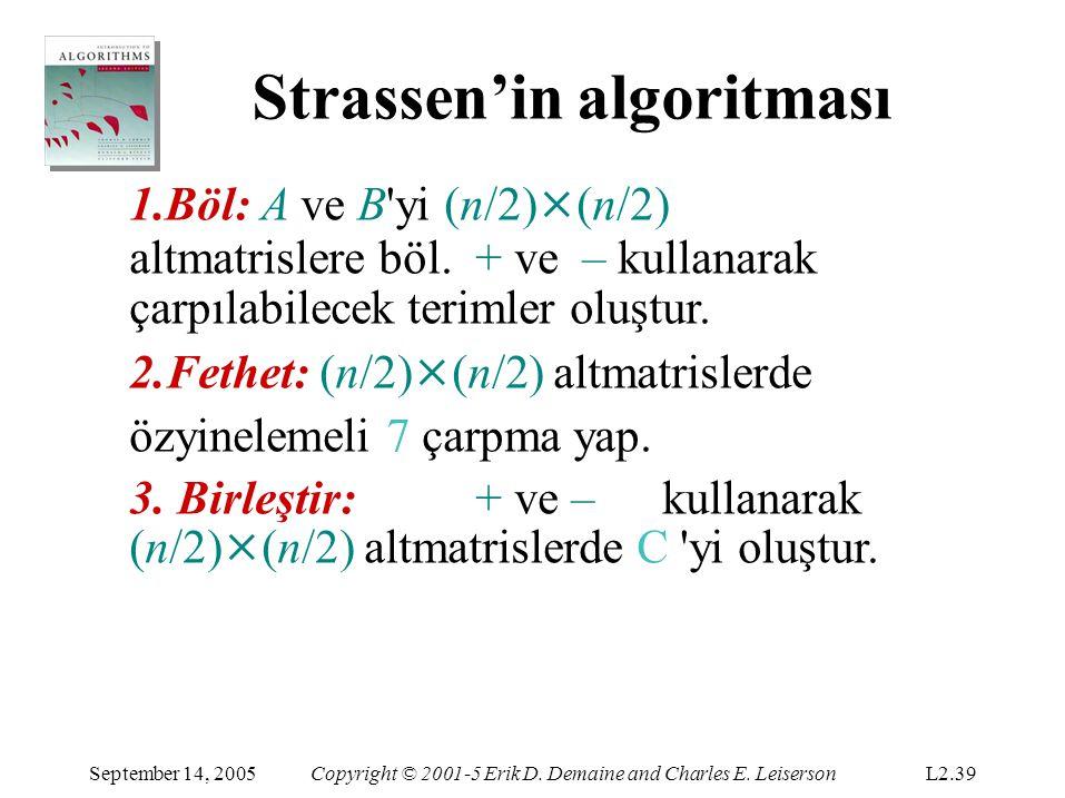 Strassen'in algoritması