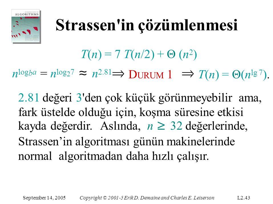 Strassen in çözümlenmesi