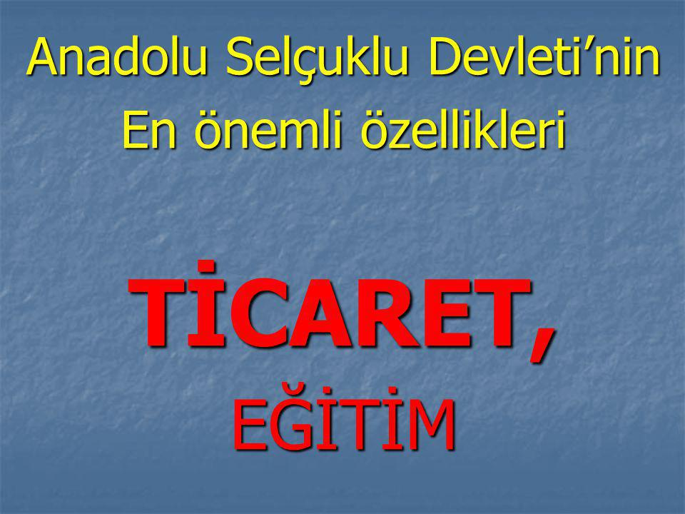 Anadolu Selçuklu Devleti'nin