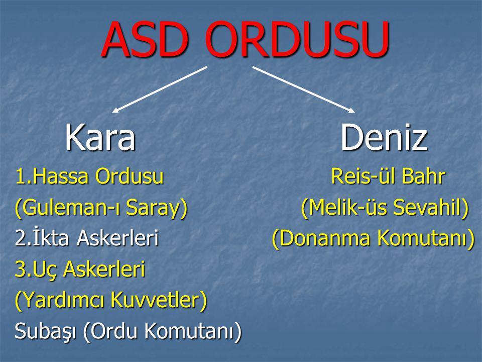 ASD ORDUSU Kara Deniz 1.Hassa Ordusu Reis-ül Bahr