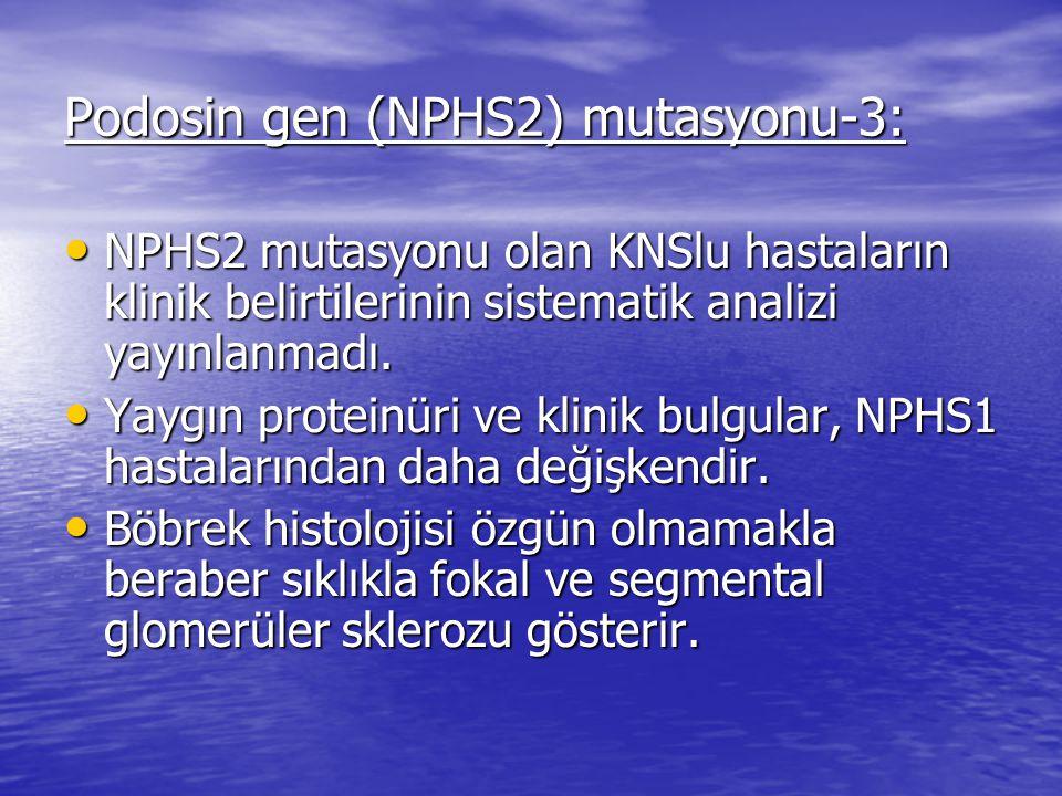 Podosin gen (NPHS2) mutasyonu-3: