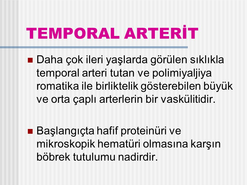 TEMPORAL ARTERİT