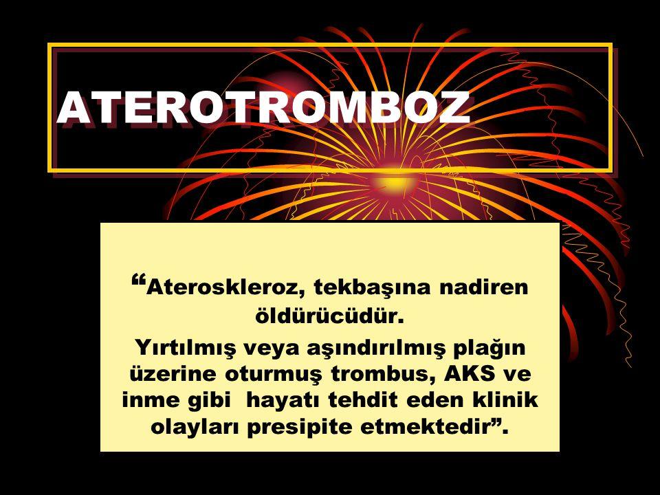 Ateroskleroz, tekbaşına nadiren öldürücüdür.