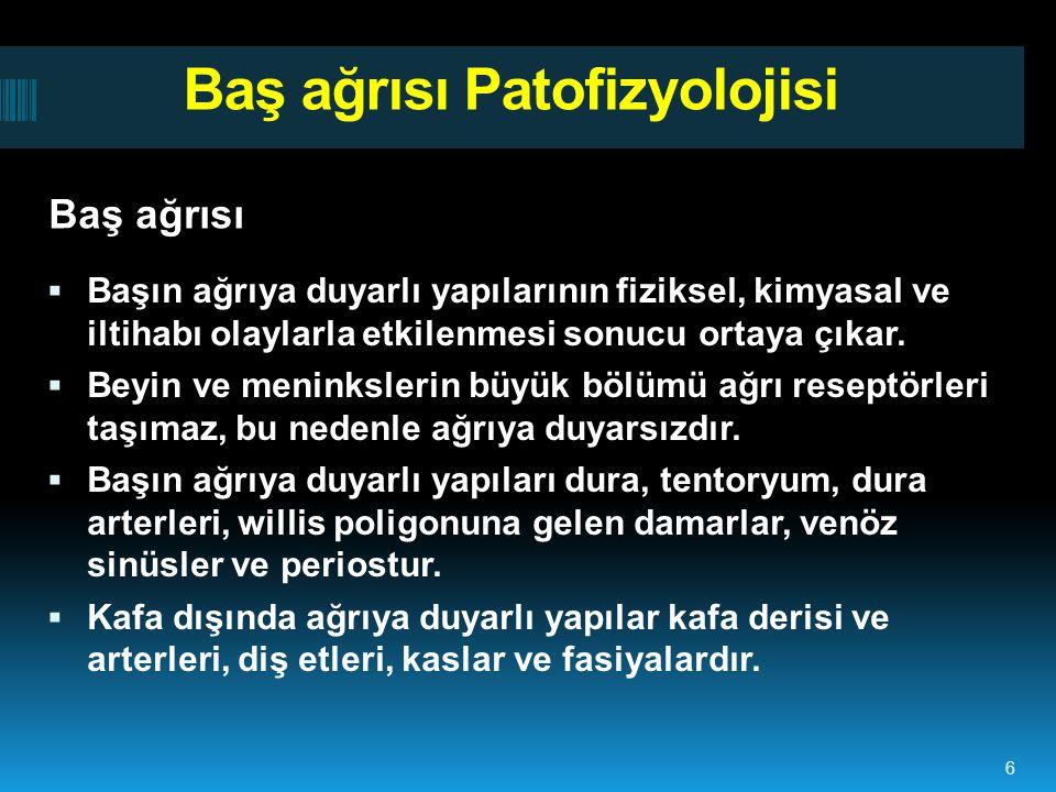 Baş ağrısı Patofizyolojisi