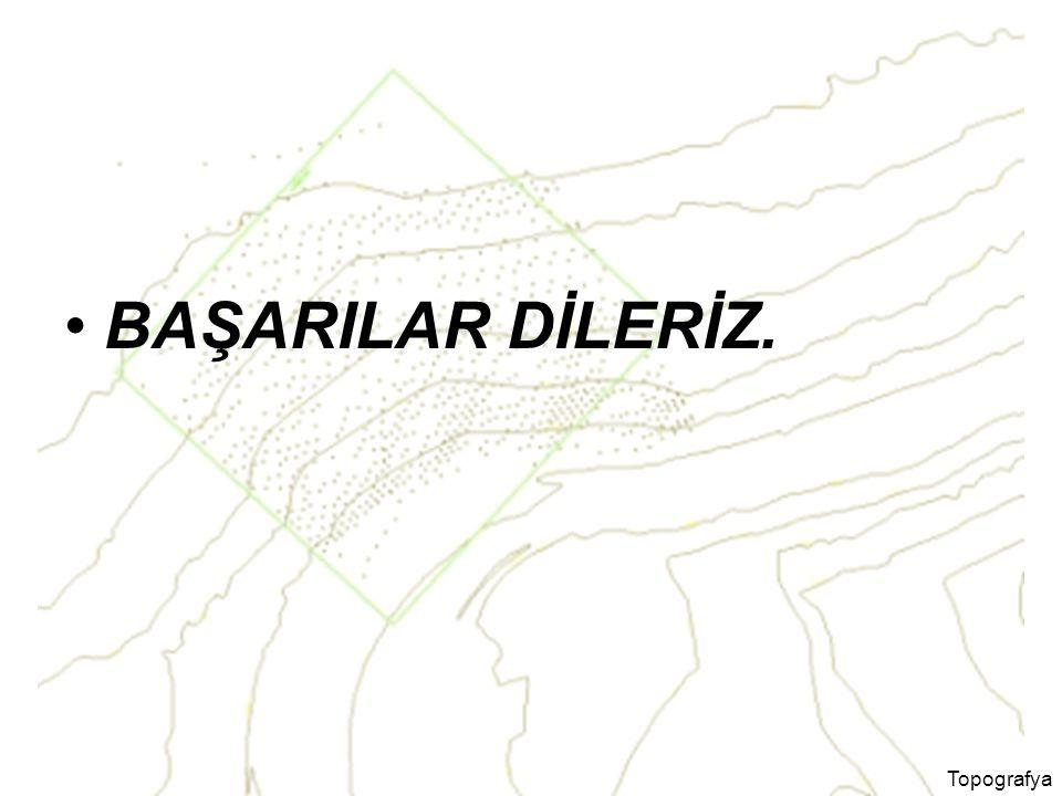 BAŞARILAR DİLERİZ. Topografya
