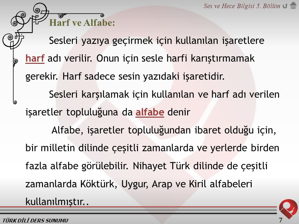 Harf ve Alfabe: